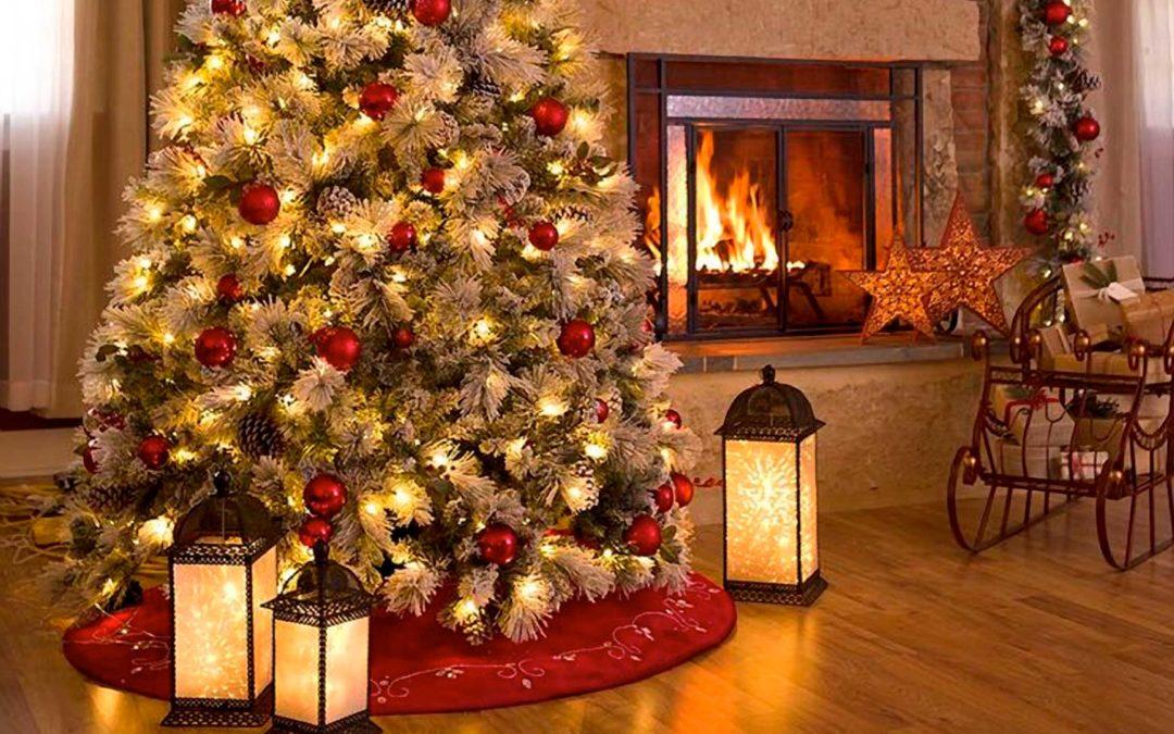 Evita l'incendio dell'albero di Natale sintetico