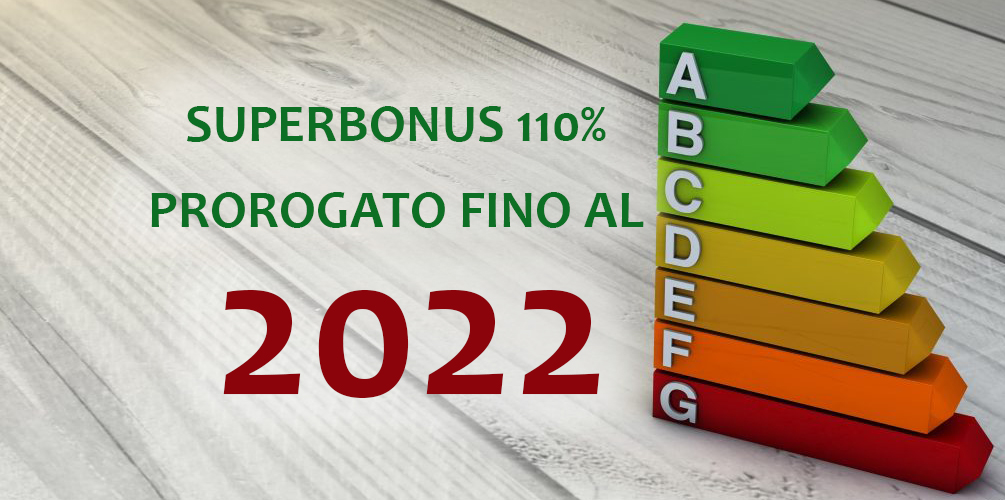 Superbonus 110% prorogato fino al 2022
