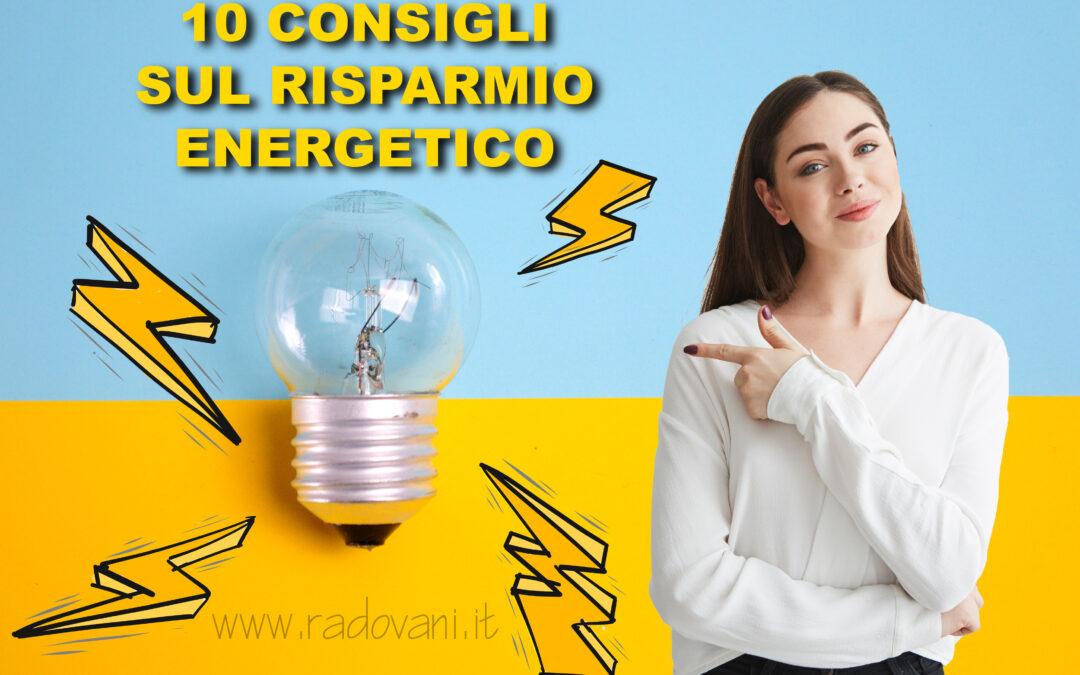 Consigli sul risparmio energetico